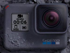 Una Gopro 6 che registra video 4k a 60 fps