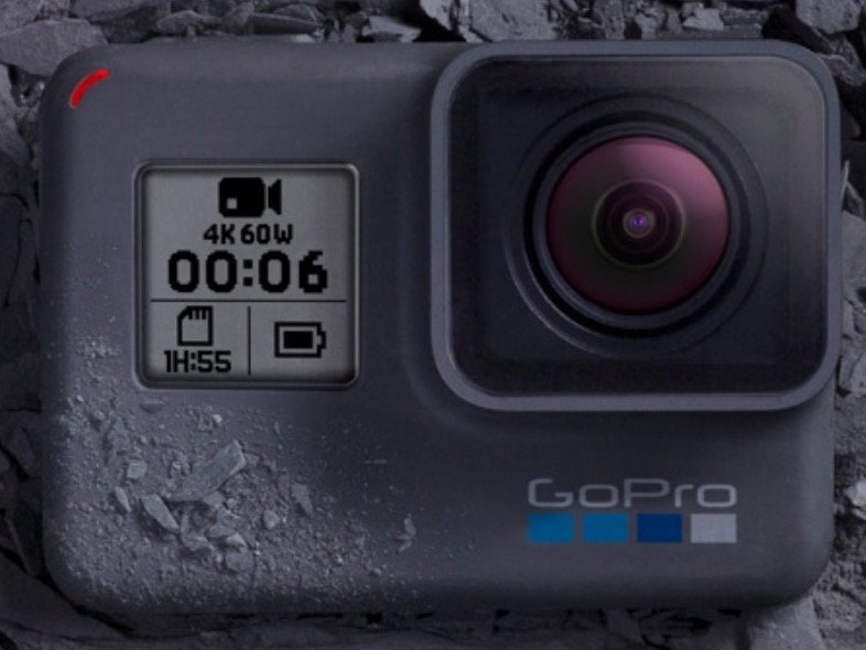 Una Gopro 6 che registra video 4k a 60 fps