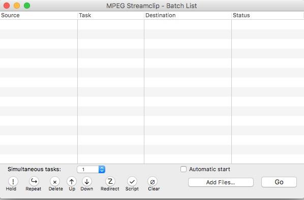 Comando Add Files di Mpeg Streamclip