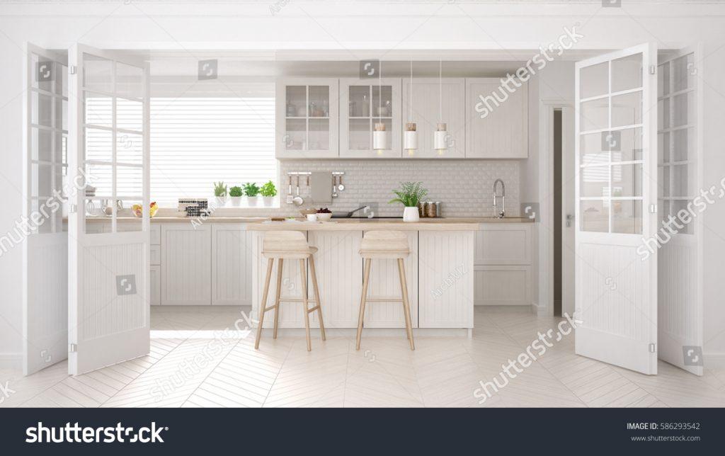 Cucina di design di colore chiaro