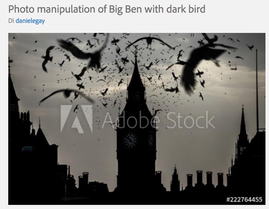 Stock image del Big Ben con dei corvi