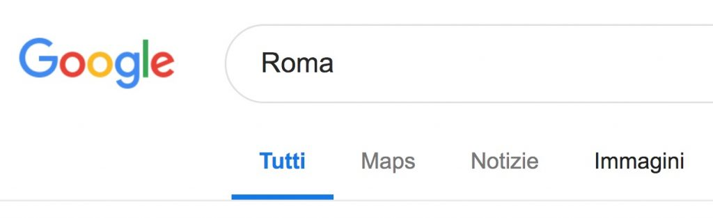 Opzione per vedere i risultati di Google Immagini