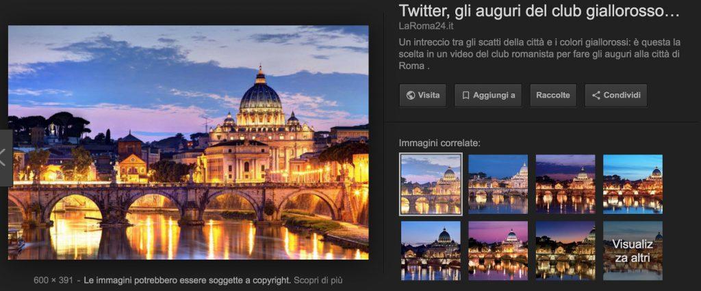Immagine di Roma vista in anteprima su Google Immagini