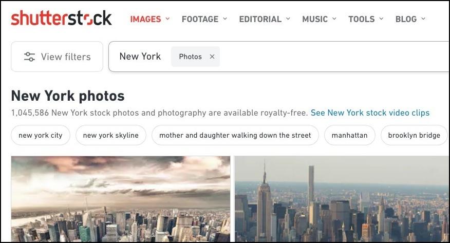 Immagini di New York in vendita su Shutterstock