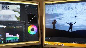 Computer con un programma di editing video per la conversione del numero di fps