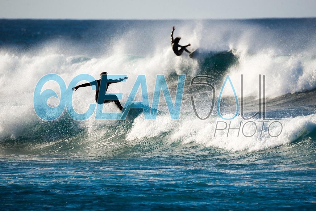 Stock image di surfisti alle Canarie