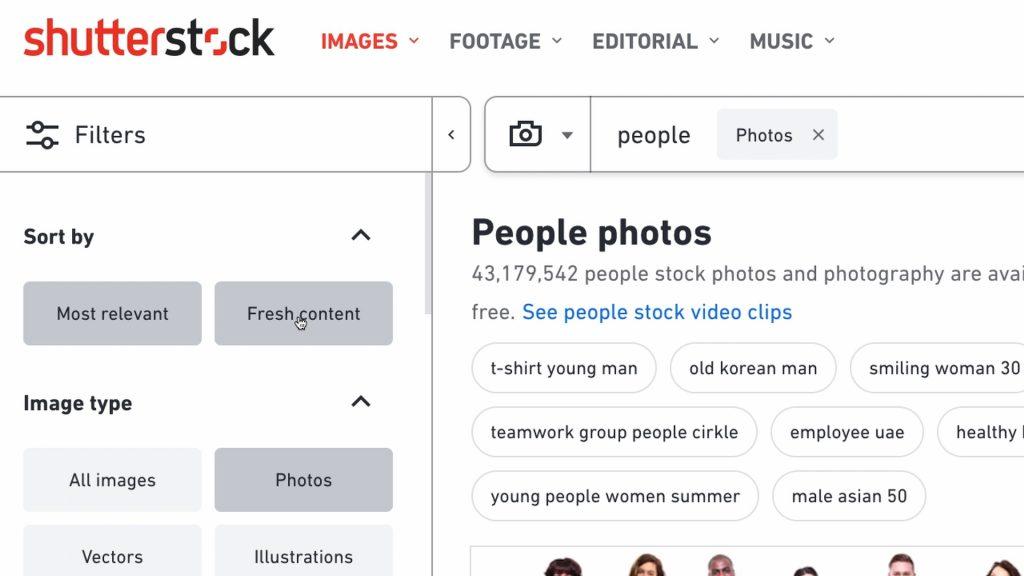 Selezione delle immagini più nuove su Shutterstock