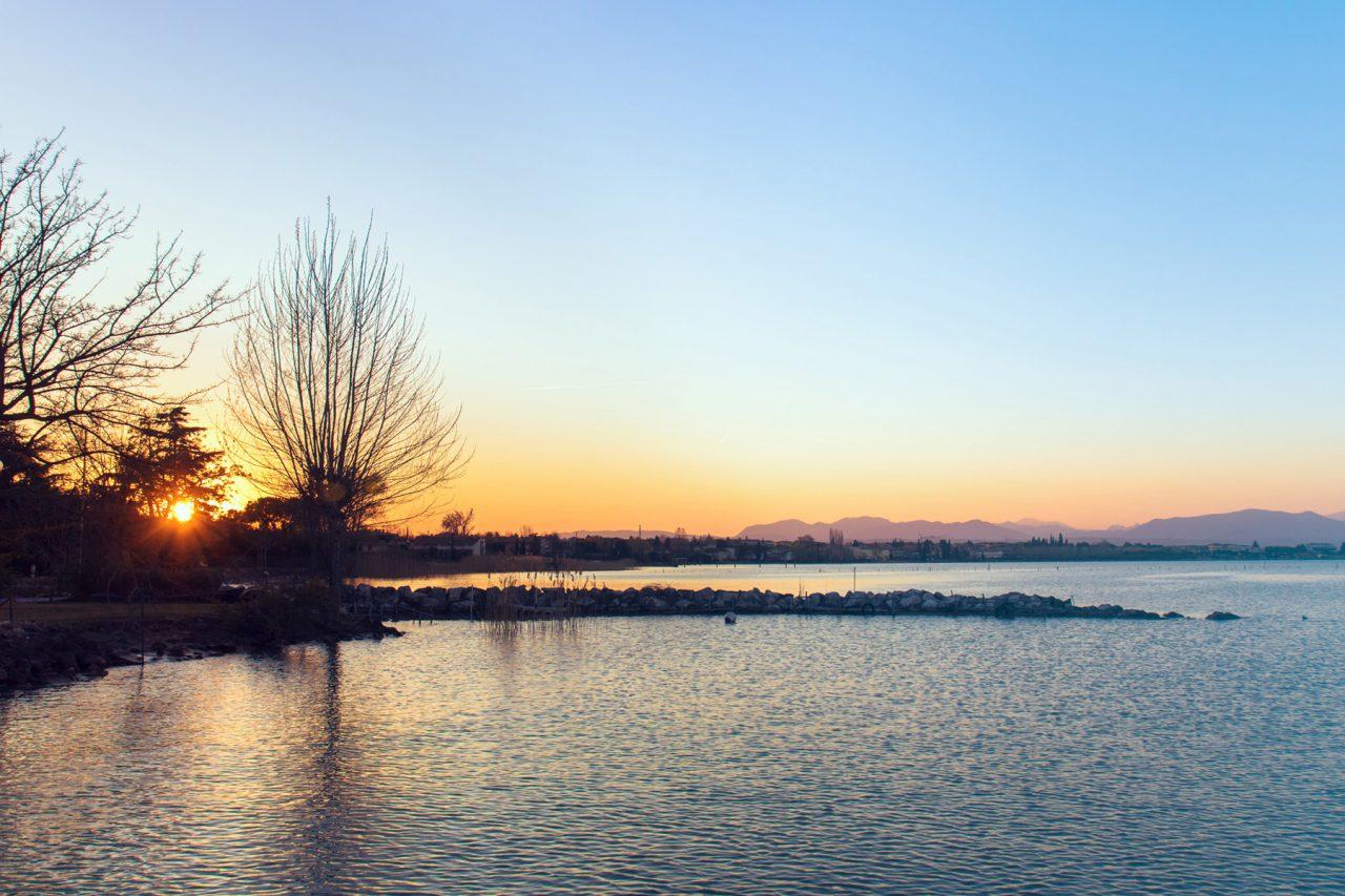 Santa Maria di Lugana al tramonto