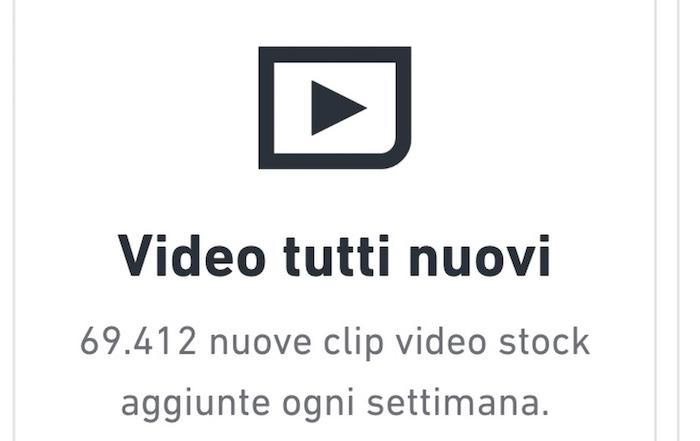 Dato che mostra il numero di video in vendita su Shutterstock