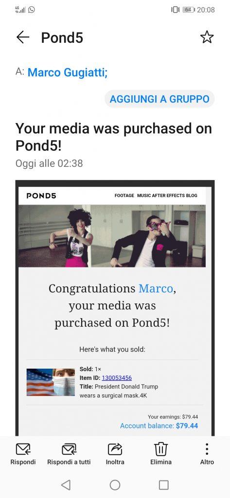 Email di notifica di Pond5