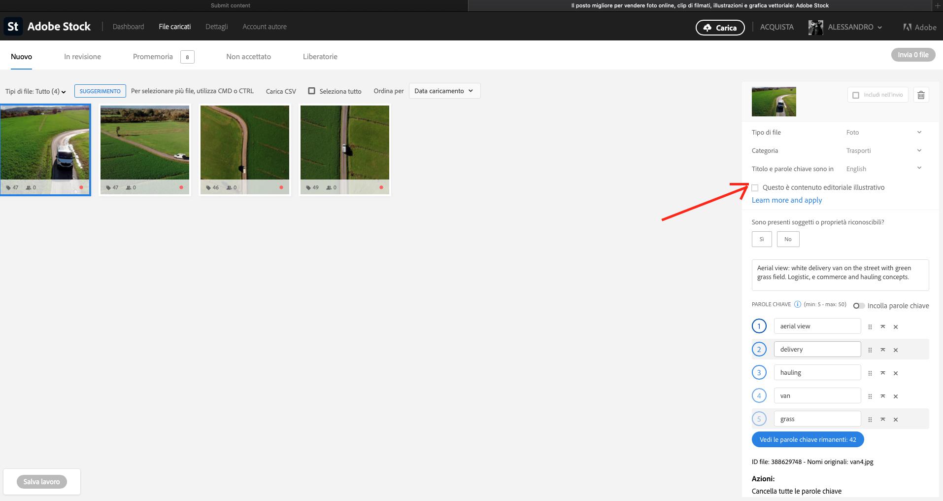 Selezione dei contenuti editoriali su Adobe Stock